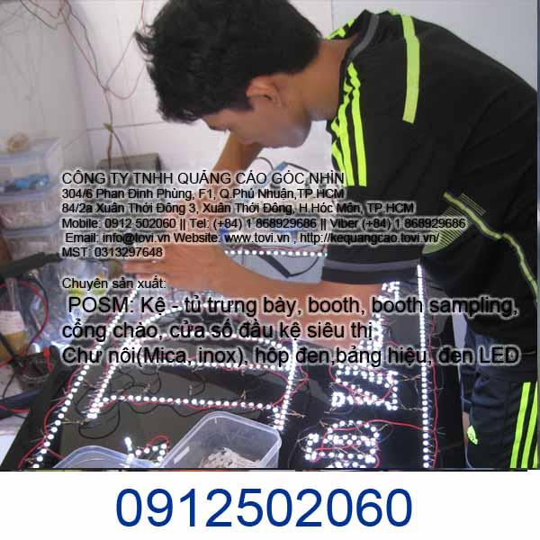 làm bảng đèn led nhấp nháy tại quận Tân Phú