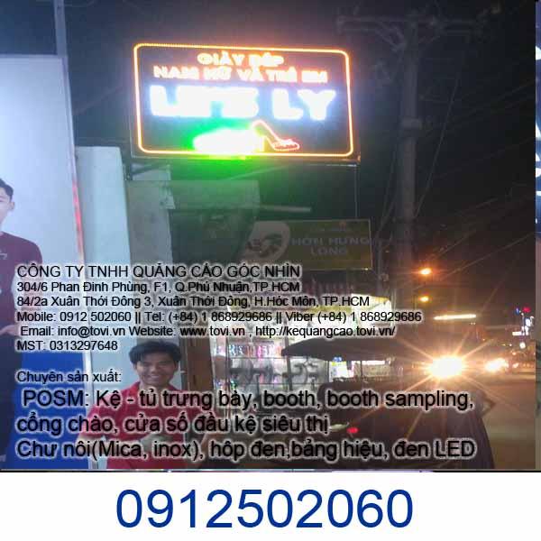làm bảng hiệu hộp đèn LED ở quận Tân Phú