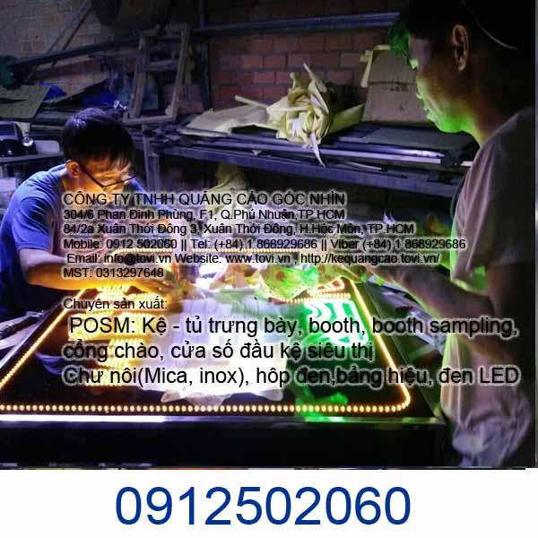 làm bảng hiệu led quảng cáo quận Tân Phú