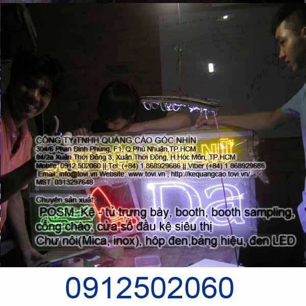 LED quảng cáo siêu sáng cho Shop tại Tân Phú